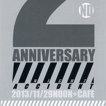 11月29日 ライブペイント NIGHT ACCIDENT -2nd ANNIVERSARY@noon+cafe(梅田)