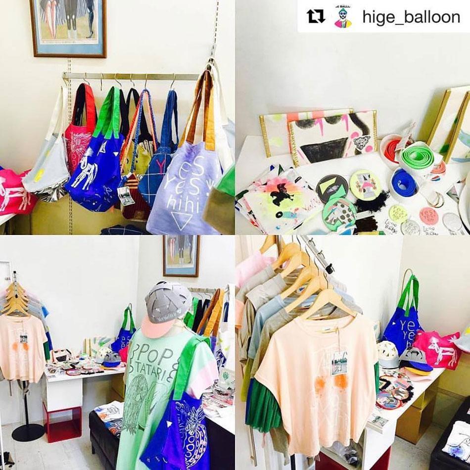 終了しました。緊急企画!7月29~8月7日 yes!yes!非非Popup Store@STRIPE BALLOON(大阪岸和田)