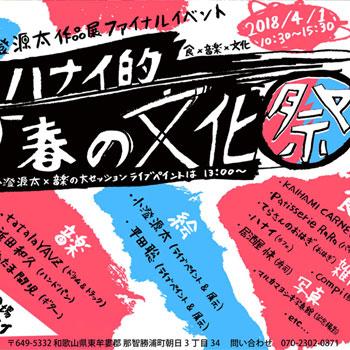 2018-4/1 ハナイ的「春の文化祭」ライブペイント@cafeハナイ(那智勝浦 民宿わかたけ1階)